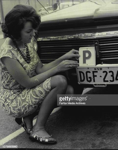 First person to be issued with a P plate at the Motor Transport Department Roseberry was Miss Lesley Armstrong of Bardwell ParkMiss Lesley Armstrong...