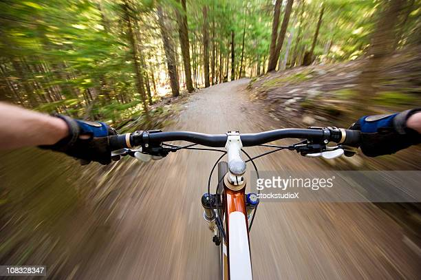 First person view of XC biking