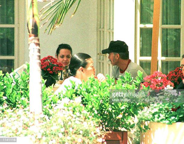 First photos of actress Angelina Jolie and her new actor husband Billy Bob Thornton sharing a romantic lunch together under the warm Californian...