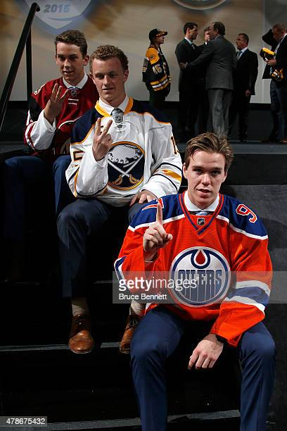 First pick Connor McDavid of the Edmonton Oilers second pick Jack Eichel of the Buffalo Sabres and third pick Dylan Strome of the Arizona Coyotes...