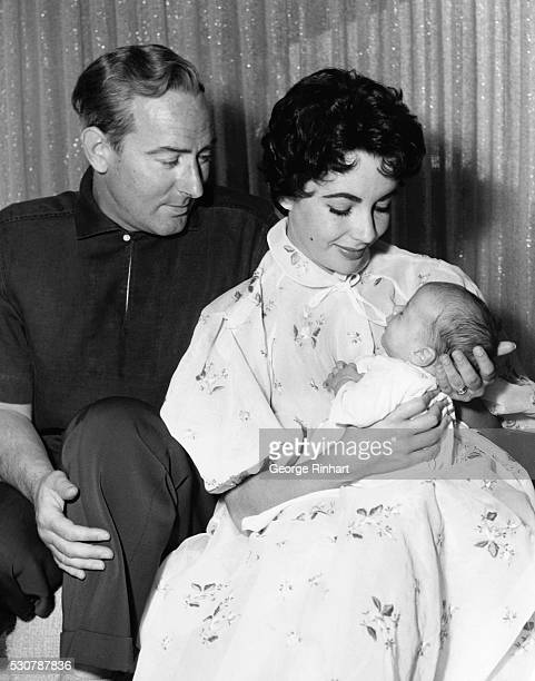 First picture of Christopher Edward Wilding son of beautiful Elizabeth Taylor and Michael Wilding who was born on February 27th 1955 The Wildings who...