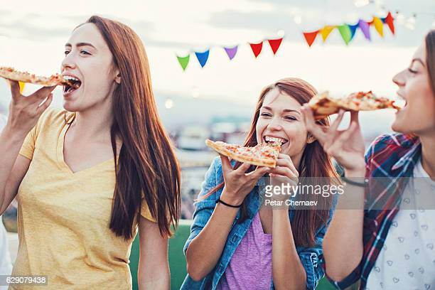 First pizza bite