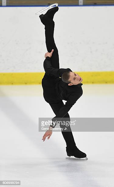 First place finisher Jason Brown of the United States competes in the men's free skate program at the US International Figure Skating Classic Day 2...