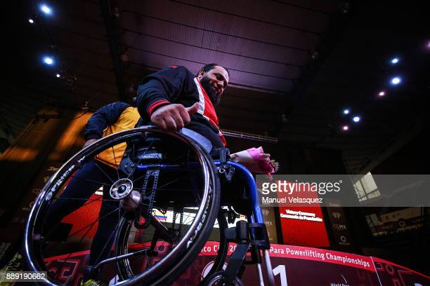 First Place Mohamed Eldib of Egypt looks on during the Men's Up to 97Kg Group A Category as part of the World Para Powerlifting Championship Mexico...