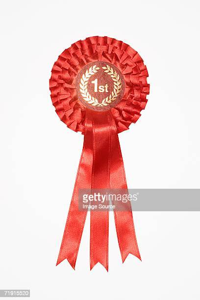 first place rosette - blue ribbon stock photos and pictures