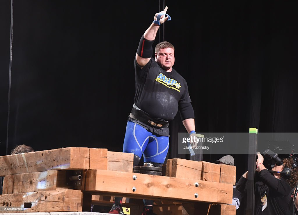 First Place Winner Strongman Dimitar Savatinov competes in the Strongman Classic at the Arnold Sports Festival 2016 on March 5, 2016 in Columbus, Ohio.