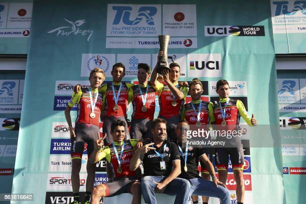First place winner Wilier TriestinaSelle Italia team after the 53rd Presidential Cycling Tour of Turkey 2017 in Istanbul Turkey on October 15 2017