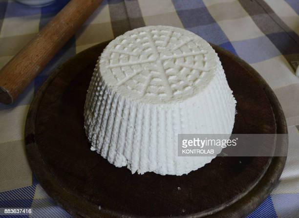 EQUENSE NAPLES CAMPANIA ITALY A first plate of cheese by chef Luigi Sorrentino in Osteria la Torre in Vico Equense