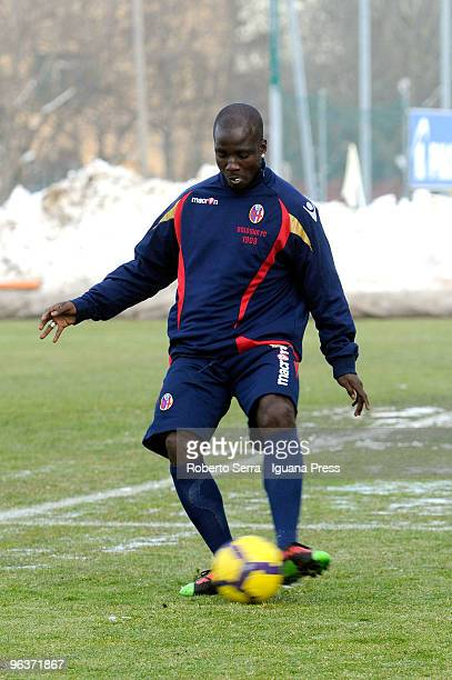 First practice for Stephen Appiah new player of Bologna FC 1909 on February 2 2010 in Bologna Italy