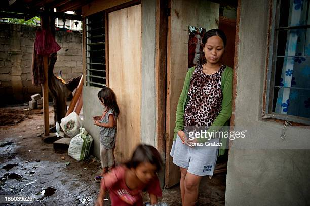 First pregnant at 15 Vanessa now aged 19 has 3 children and one more on its way through prostitution she is able to support her children in Cagayan...