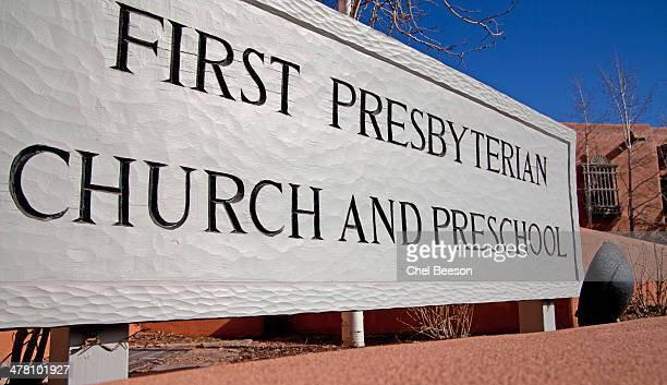 first presbyterian church santa fe nm - presbyterianism stock photos and pictures
