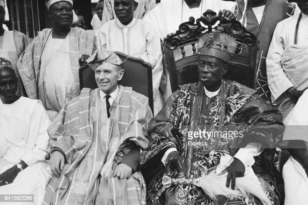 First President of Nigeria Nnamdi Azikiwe 91904 1996 with British Prime Minister Alec DouglasHome Lagos Nigeria 23rd March 1964