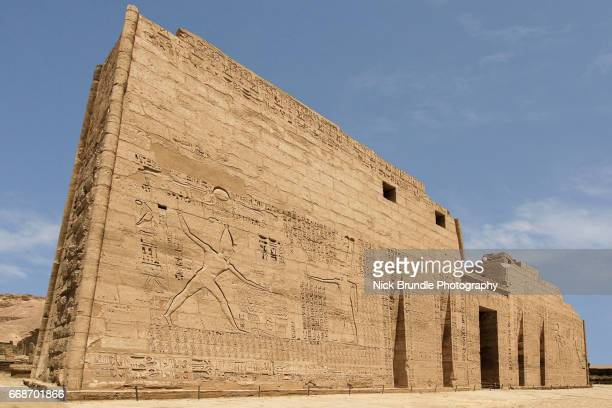First Pylon of the Mortuary Temple of Ramesses III, Medinet Habu, Egypt.