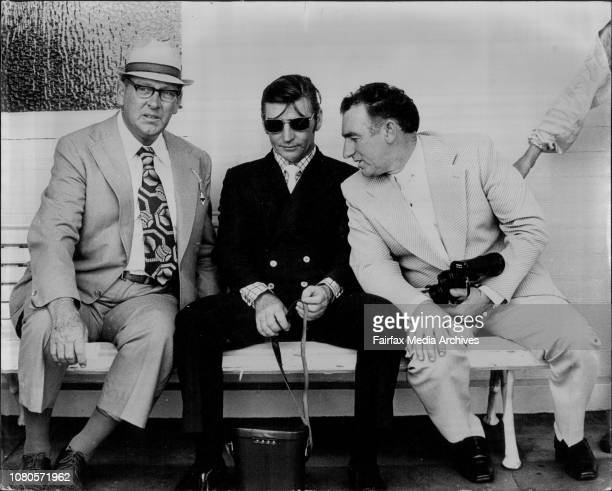 First Race From Randwick Three trainers discuss their prospects L to R A McKenna L Bridge and R Guy February 16 1974