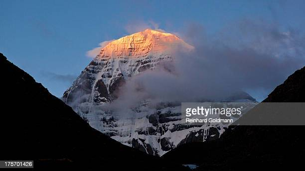 First Rays of Light on Kailash North Face