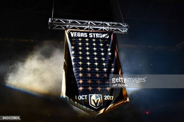 First responders and victims of the mass shooting that took place at the Route 91 Harvest country music festival on October 1 2017 are honored prior...