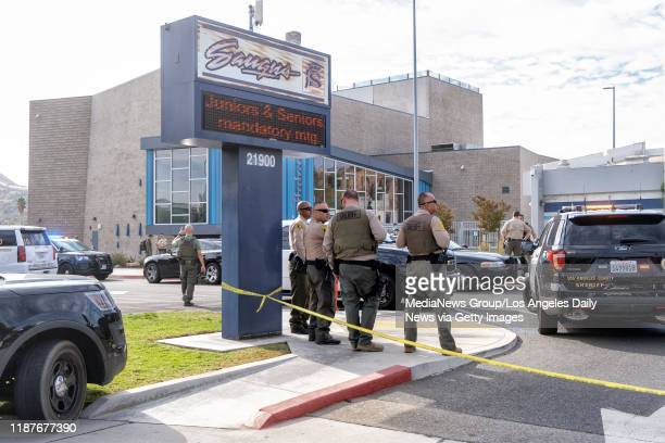 A first responders at Saugus High School after a school shooting occurred Thursday November 14 2019