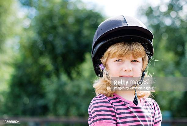 first riding lesson - equestrian helmet stock pictures, royalty-free photos & images