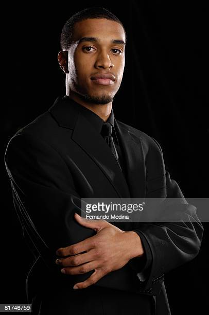 First round draft pick Courtney Lee of the Orlando Magic poses at the RDV Sportsplex on June 27, 2008 in Maitland, Florida. NOTE TO USER: User...