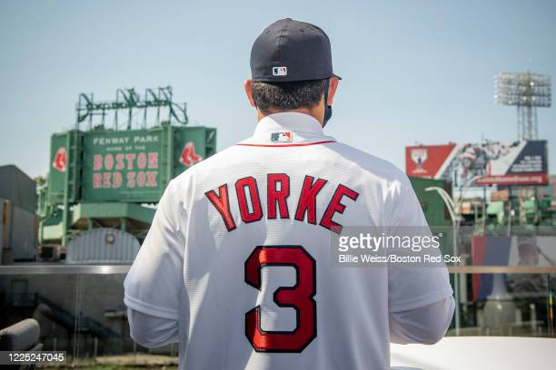 First round draft pick second baseman Nick Yorke signs with the Boston Red Sox after being selected 17th overall in the 2020 Major League Baseball...