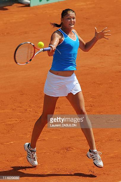 First round of the French Open tennis at the Roland Garros Day 2 in Paris France on May 25th 2009 Dinara Safina
