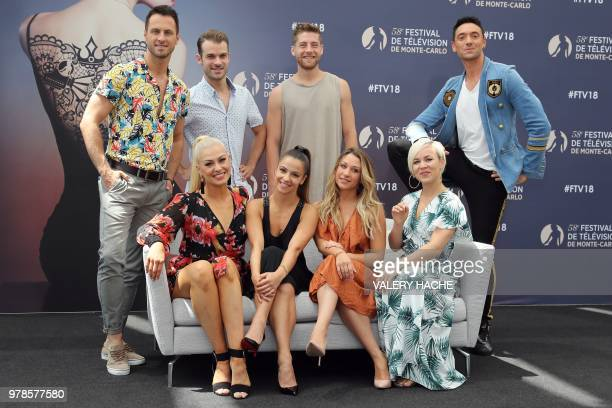 Katrina Patchett Denista Ikonomova Emmanuelle Berne and Jade Geropp Second row Christian Millette Guillaume Foucault Yann Alrick Mortreuil and Maxime...