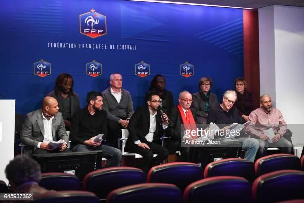 First row LR Joel Epalle Franck Queudrue David Donadei Maitre Guibere Michel Ben Soussan Top row LR Roger Hitoto Gerard Houilet Hippolyte Dangbeto...