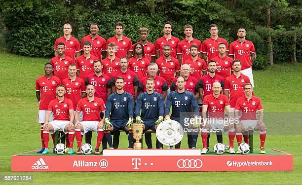 First row Rafinha Franck Ribery Sven Ulreich Manuel Neuer Tom Starke Arjen Robben Philipp Lahm second row David Alaba Joshua Kimmich Toni Tapalovic...