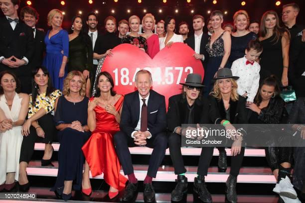 First row, Stephanie Stumph, Dagmar Woehrl, Gerit Kling, Johannes B. Kerner , Udo Lindenberg, Maria Furtwaengler, Laura Wontorra during the Ein Herz...