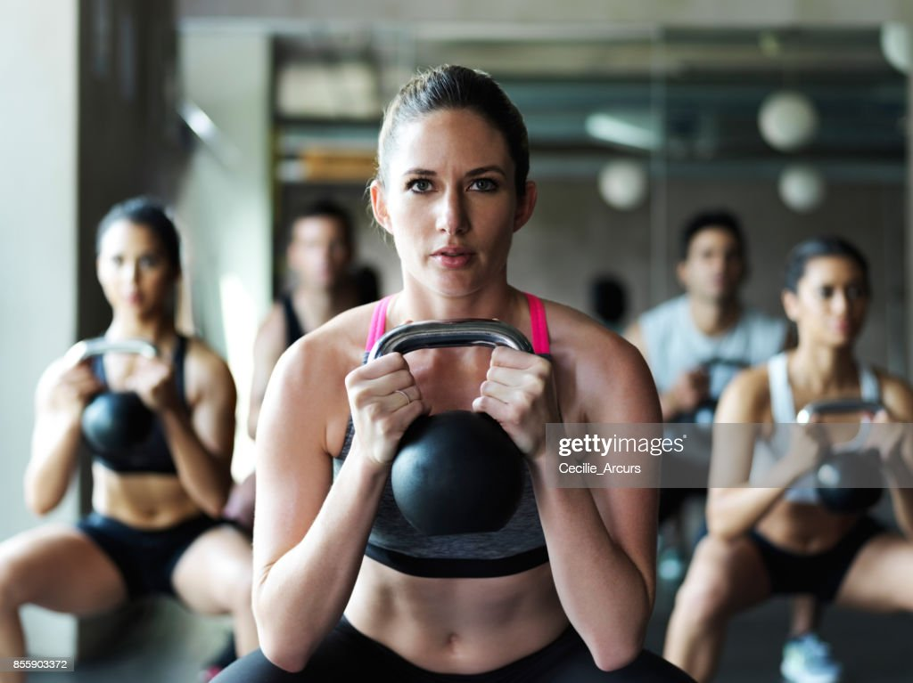 First rule of fitness: Stay focused : Stock Photo