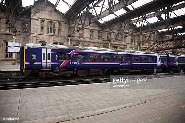 first scotrail train at perth - perth scotland stock pictures, royalty-free photos & images