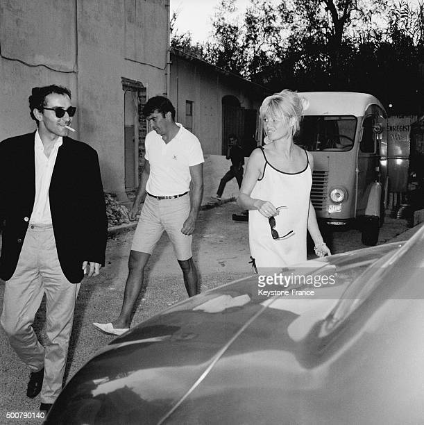 First screening at the Studios de la Victorine of the movie 'Le Mépris' for director JeanLuc Godard and Brigitte Bardot after the shooting in Italy...