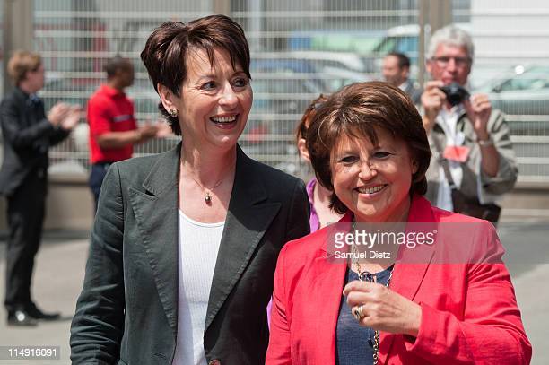 First Secretary and probable candidate to the French Socialist Party primary elections Martine Aubry arrives at the French Socialist Party National...