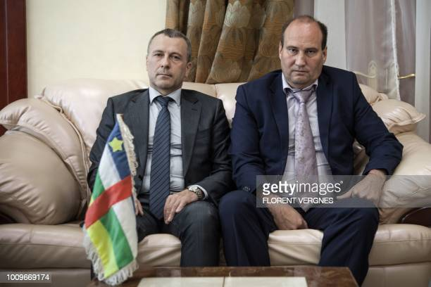 First Secretary at the Russian Embassy in the Central African Republic Victor Tokmakov and Special Security Advisor to the Central African President...