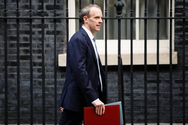 GBR: Foreign Secretary Dominic Raab On Downing Street