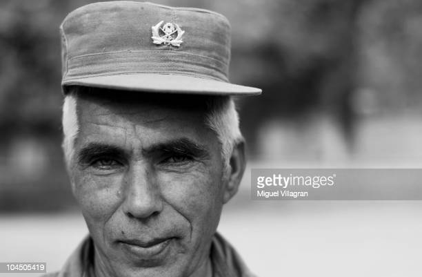First sergeant Habib Rahman of the Afghan police looks on at the local police headquarter on September 28 2010 in Balkh Afghanistan Germany has more...