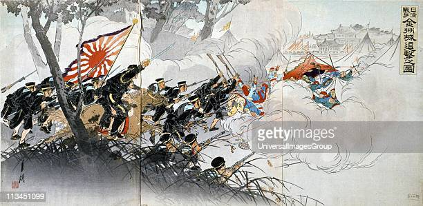 First SinoJapanese War for control of Korea a Chinese tribute state China defeated by Japan's more modernised forces Infantry battle'