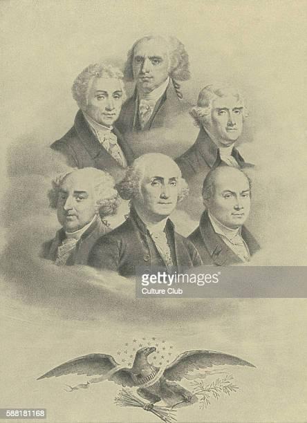 First six presidents of the United States of America In chronological order George Washington John Adams Thomas Jefferson James Madison James Monroe...