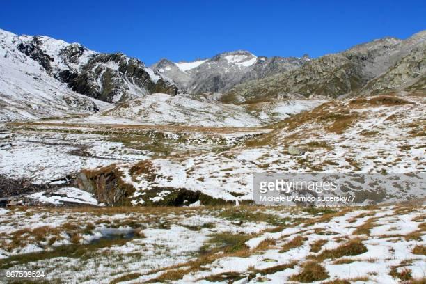 First snow at Plaun la Greina