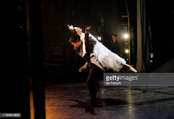 First Soloist Abigail Prudames as Victoria and Joseph Taylor as Albert dance during the World Premier of Northern Ballet's performance of 'Victoria'...