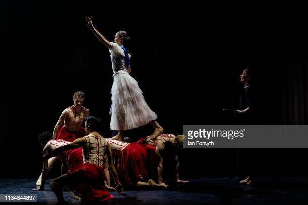 First Soloist Abigail Prudames dances during the during the World Premier of Northern Ballet's performance of 'Victoria' at Leeds Grand Theatre on...