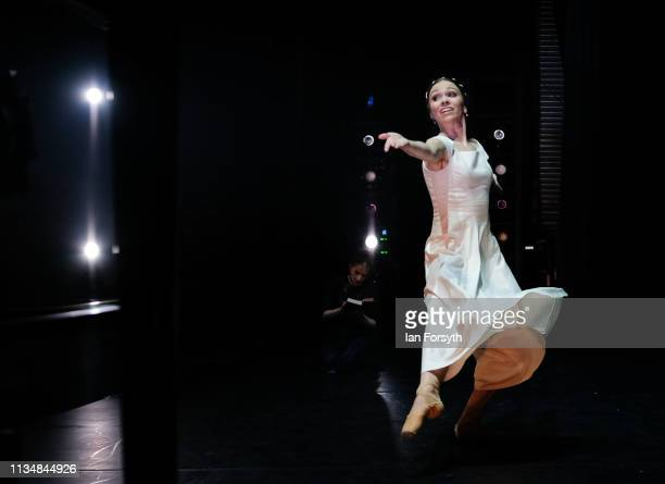 First Soloist Abigail Prudames dances during the World Premier of Northern Ballet's performance of 'Victoria' at Leeds Grand Theatre on March 09 2019...