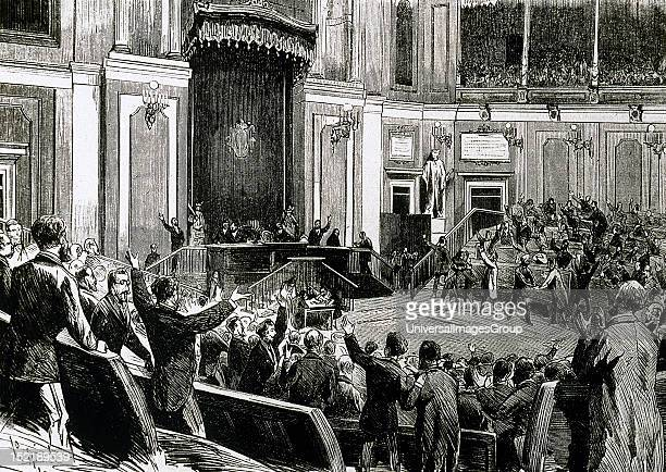 First Spanish Republic1873 1874 Proclamation of the Republic by the National Assembly 18730211 La Ilustracion Espanola y Americana