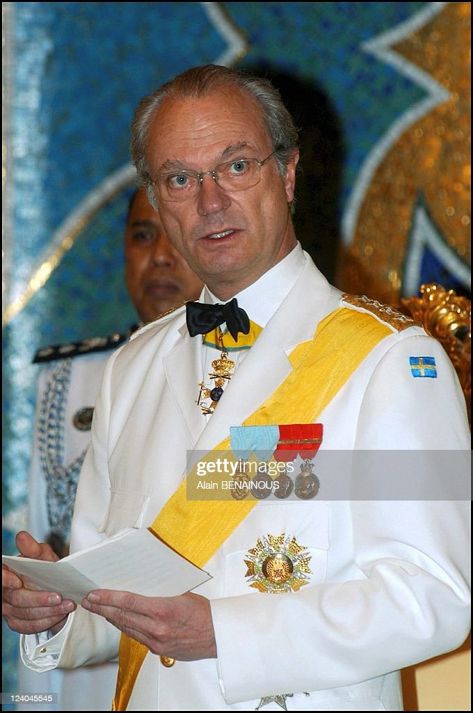 First State Visit Of His Majesty King Carl Xvi Gustaf And Her Majesty Queen Silvia To Brunei In Bandar Seri Begawan, Brunei Darussalam In February 2004. : News Photo
