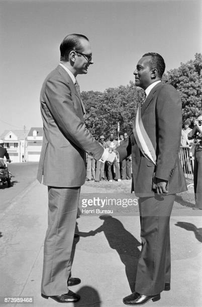 First step of his stay in the Antilles Prime Minister Jacques Chirac arrived in BasseTerre where he was welcomed by the Communist Mayor Clery 22nd...