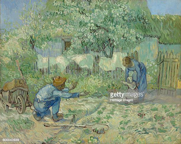 First Steps 1890 Found in the collection of Metropolitan Museum of Art New York Artist Gogh Vincent van