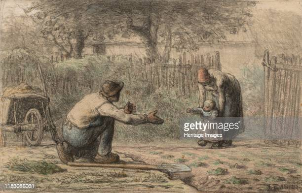 First Steps circa 18581866 In the 1860s Millet developed the practice of adding pastel to his black chalk drawings of peasants and rural life with...