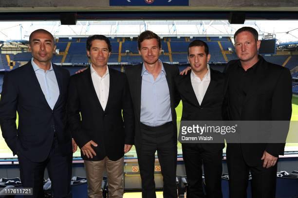 First Team Assistant coach Roberto Di Matteo New Chelsea fitness coach Jose Mario Rocha Chelsea manager Andre VillasBoas opposition scout Daniel...