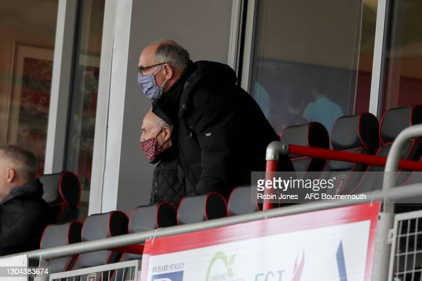 First Team Coach Joe Jordan of Bournemouth watches the game from the stands during the Sky Bet Championship match between AFC Bournemouth and Watford...