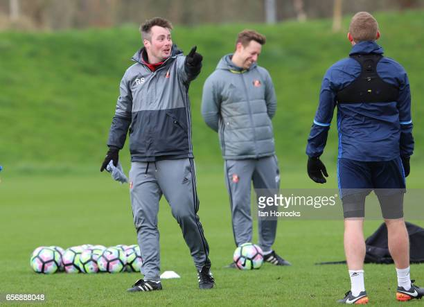 First team coach Robbie Stockdale during a Sunderland AFC training session at The Academy of Light on March 23 2017 in Sunderland England